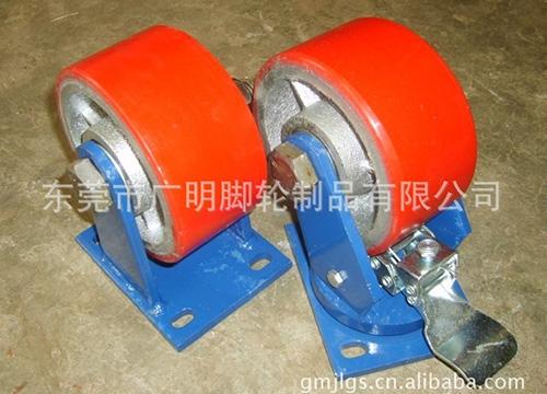 6×3-重型蓝架PU脚轮20