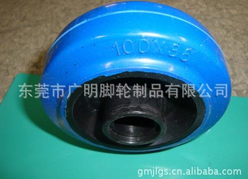 蓝色高弹力脚轮系列6