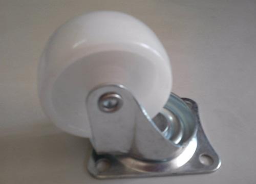 2寸平底白色活动轮3